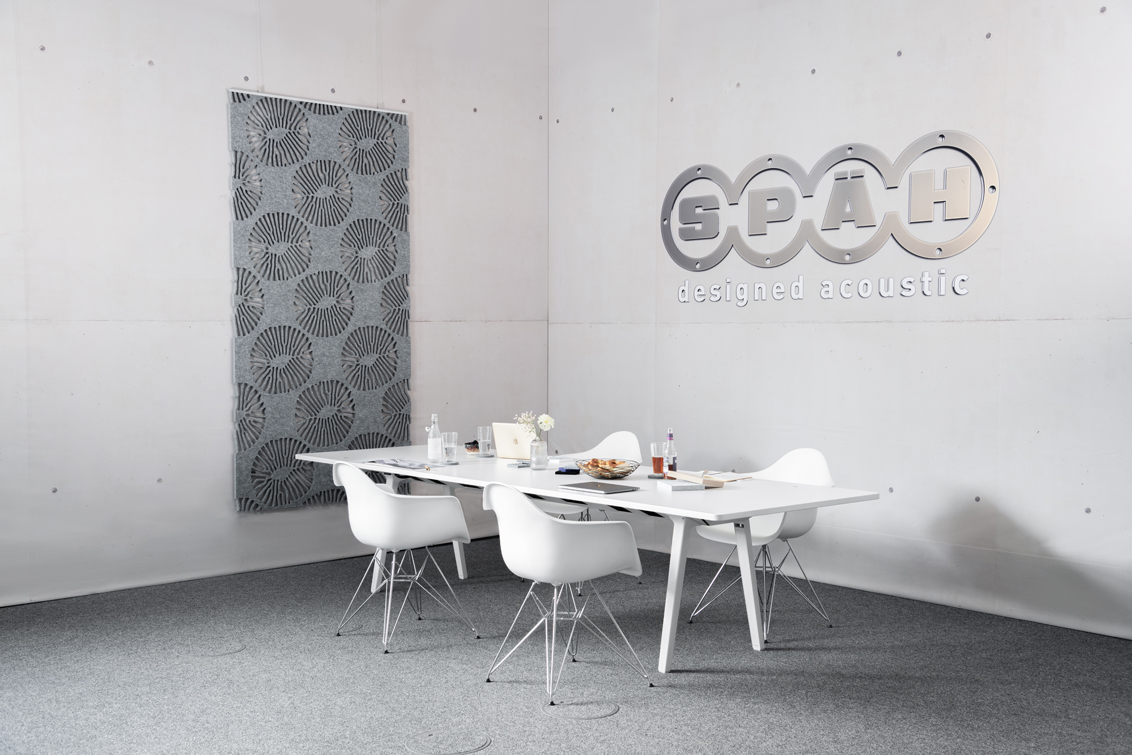 Akustik Raumteiler als Akustiklösung in unterschiedlichen Muster