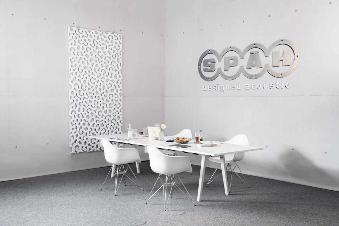 Akustik Raumteiler als Akustiklösung in verschiedenen Muster