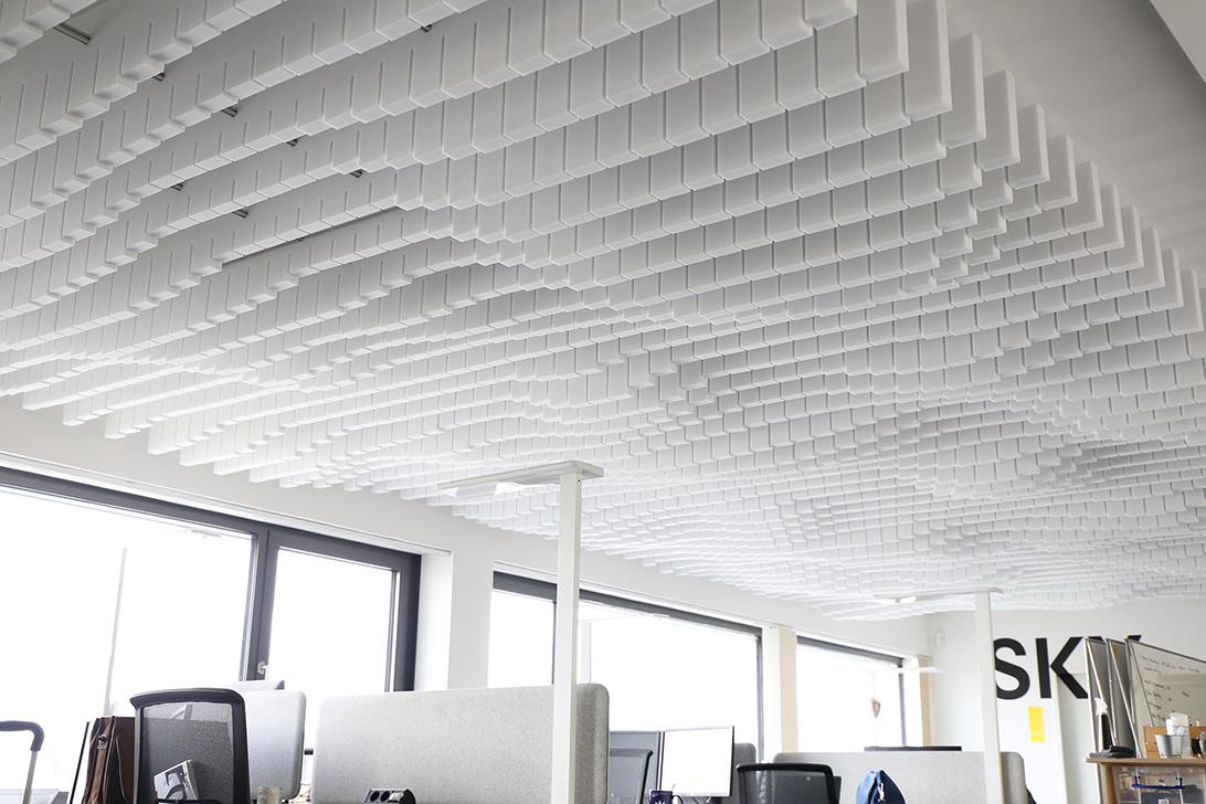Design Akustikmodule im Büro