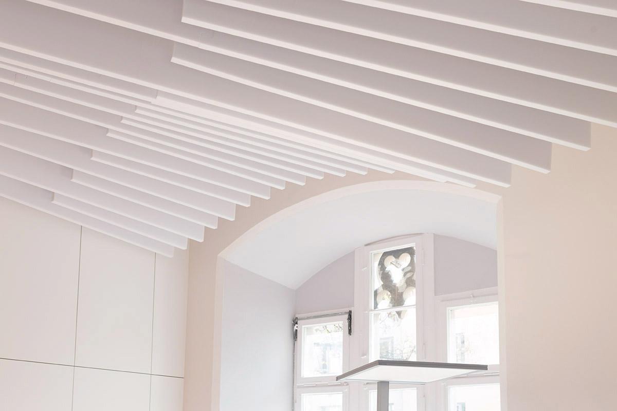 Design Akustikmodule für die Decke