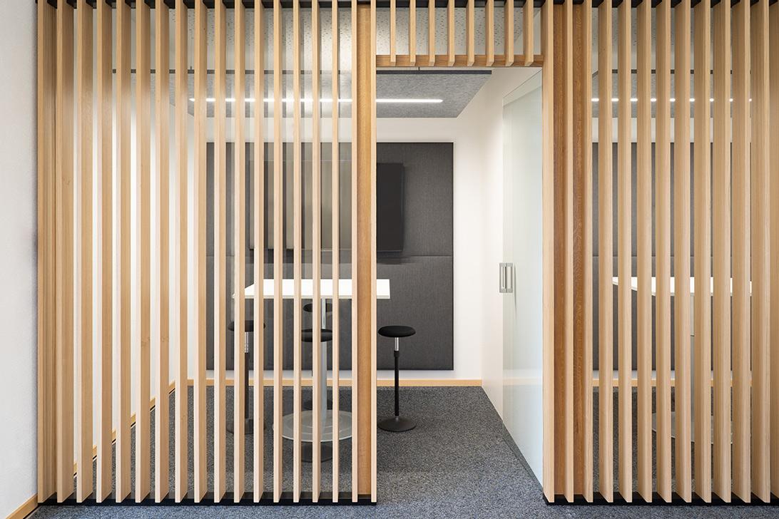 Akustikprobleme mit Design Akustikabsorbern für die Decke gelöste